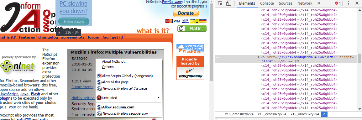 NoScript Malware
